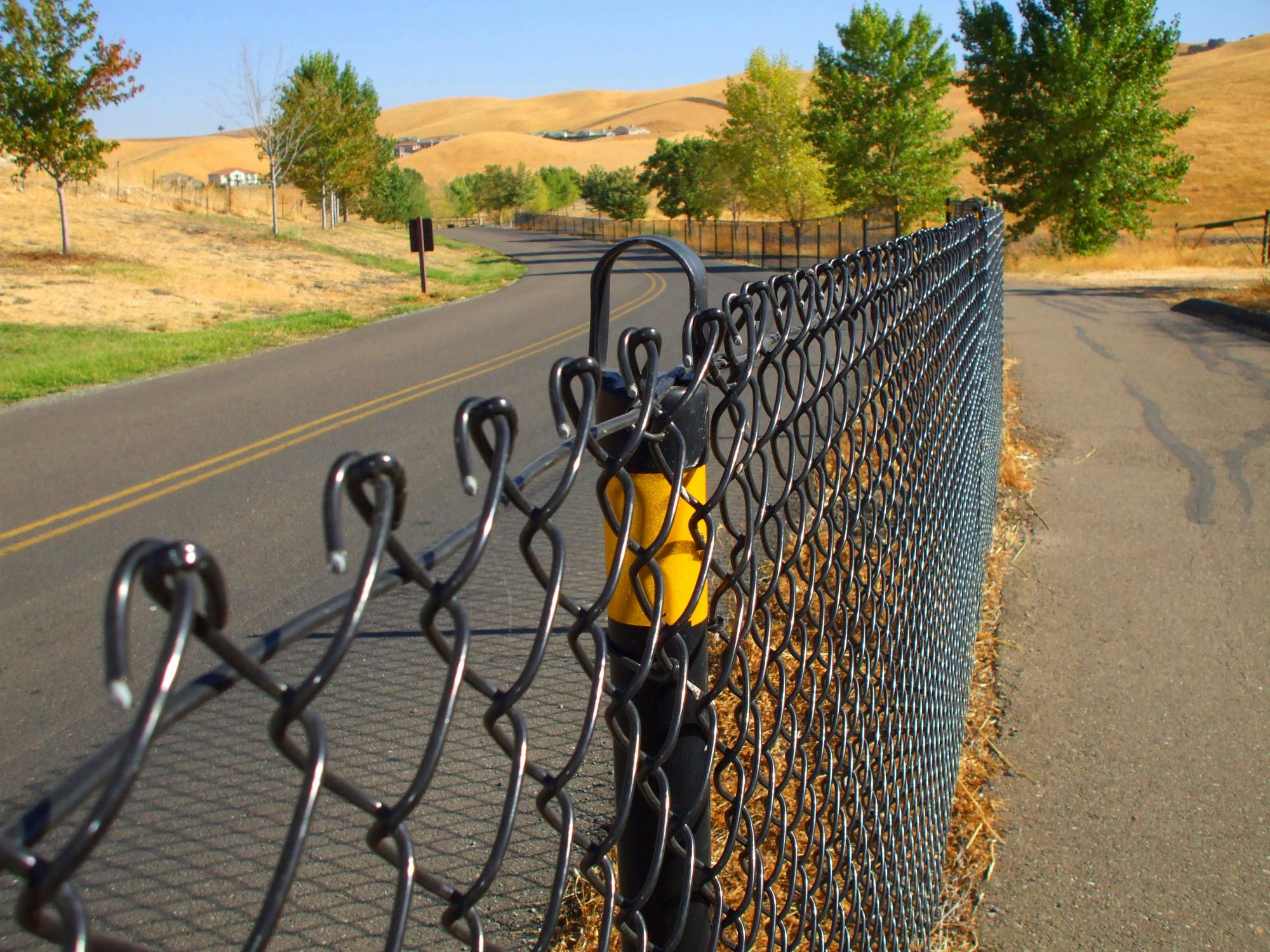 This is a picture of a chain link fence.