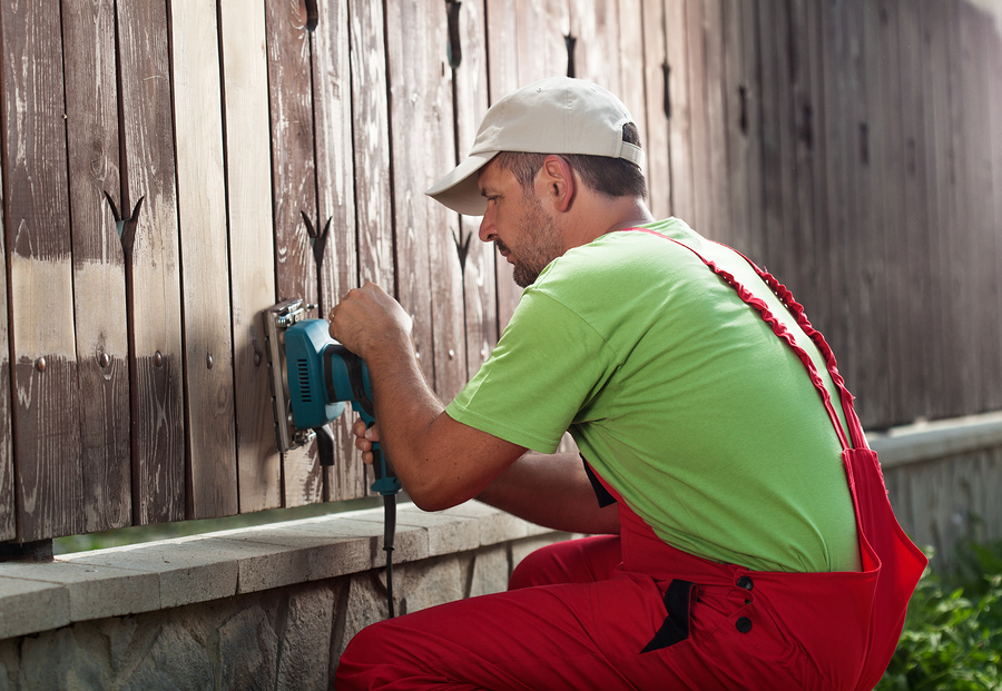 This is a picture of a fence builder.
